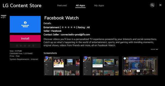 Facebook Watch TV App Comes To Select LG WebOS Smart TVs